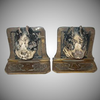 Cast Iron Boston Terrier Dog Bookends