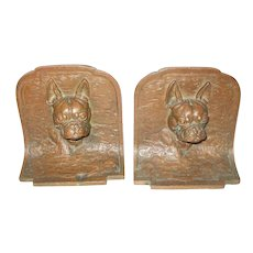 Fabulous French Bulldog Dog Bronze Bookends