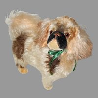 Beautiful Eduard Cramer Tipped Mohair Pekingese Dog Great To Display With Dolls
