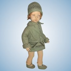 Cute Lenci Series 109 Doll Adorable Art Deco Outfit