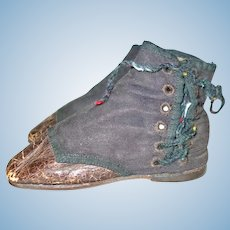 """Very Early Side Lace Doll Or Childs Shoes 4"""""""
