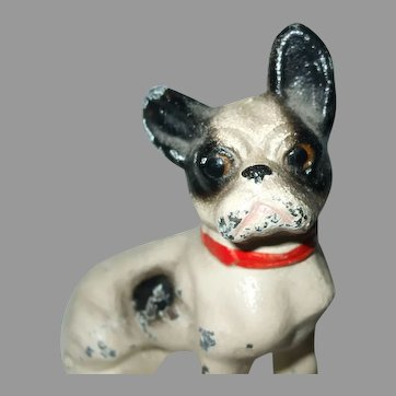 Darling Boston Terrier Dog Or French Bulldog Cast Iron Paperweight