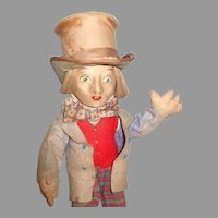1930's Rare And Whimsical Mad Hatter From Alice In Wonderland Doll