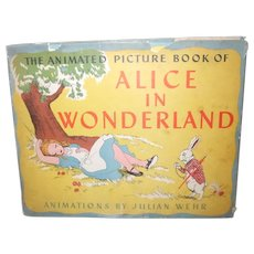 1945 The Animated Picture Book Of Alice In Wonderland With Dust Jacket