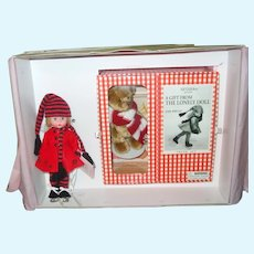 "8"" Edith The Lonely Doll With Bear Holiday Trunk By Madame Alexander"