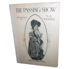1903 Antique Book The Passing Show Drawings By A B Wenzell
