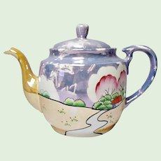 Vintage Japanese Mottled Luster Teapot