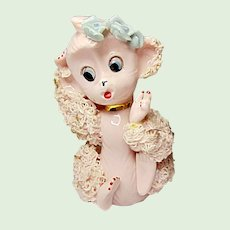 Mid-Century UCAGCO Spaghetti Trimmed Pink Monkey