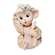 Mid-Century UCAGCO Spaghetti Trimmed Pink Monkey
