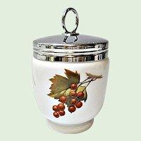 Royal Worcester - Evesham Gold Three Fruit King Size Porcelain Egg Coddler
