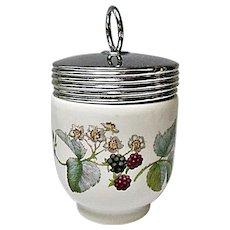 Royal Worcester - Lavinia Pattern - King Size Blackberry Porcelain Egg Coddler