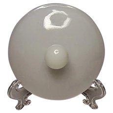 Anchor Hocking Milk Glass Sugar Bowl Lid - Round Finial - Slight Damage