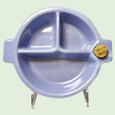 Vintage #1030 Hankscraft Baby Blue Children's Hot Water Food Warmer