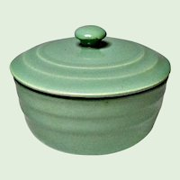 Oxford Pottery Co. - Universal Potteries Vintage Jade Green Covered Bowl