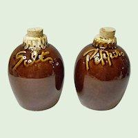 Vintage Hull - House 'n Garden Salt and Pepper Shakers - Brown Drip