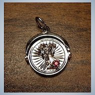 SPINNER - Silver Charm - St. Thomas Virgin Islands - Sterling - Spinner With Stone