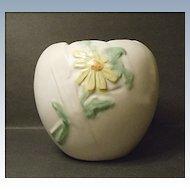 Vintage Weller Bouquet Rose Bowl Vase B-3 Shape Daisy - 1930's