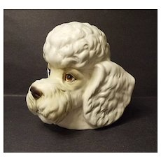 Vintage Inarco Poodle Dog Head Vase No. E2517  Made In Japan - MIJ - Red Tag Sale Item
