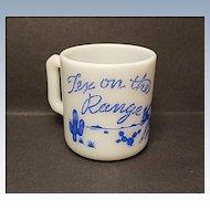 1950's Hazel-Atlas Tex On The Range Kiddie Ware Mug