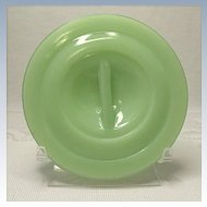 Original Jeannette Drippings Refrigerator Jar Replacement Lid Jadite - Jade-ite