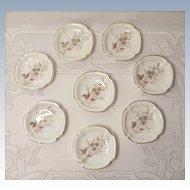 Antique Carlsbad Austria Porcelain Butter Pats - Pattern CAR46 - Set of 8