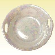 Five Vintage Porcelain Bavaria Handled Open Salts - Nut Dish - Luster Iridescent