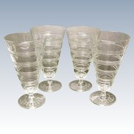 Depression Era Hocking Banded Ring Footed Tumblers
