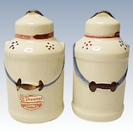 Vintage Shawnee Pottery Milk Can Salt and Pepper Shakers
