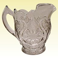 SALE - Antique EAPG New Martinsville Horseshoe Daisy Pitcher - Magnificent Pressed Glass