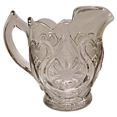 SALE - EAPG New Martinsville Horseshoe Daisy Pitcher - Magnificent Pressed Glass