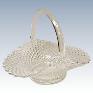 Westmoreland English Hobnail Crystal Basket