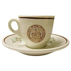Vintage Missouri State Seal - Demitasse Cup and Saucer Set