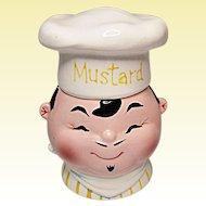"""Vintage 1959 Napco """"Chef"""" Mustard Jar"""