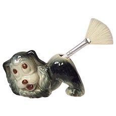 Vintage Made In Japan Googly Eyed Dog Toothbrush Holder