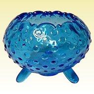Vintage L. E. Smith Mount Pleasant #525 Colonial Blue Rose Bowl Vase