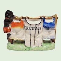 Vintage Black Memorabilia Novelty - Made In Japan - Match & Cigarette Caddy