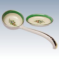 Very Vintage Noritake Whipped Cream Ladle and One Open Salt Dish - ROSEARA Pattern