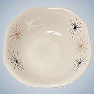 Restaurant Ware - Mayer China - Mid-Century Modern - Atomic Starburst - Square Soup - Salad Bowl