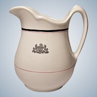 Restaurant Ware - Shenango China Ironstone Quart Milk Pitcher - Pennsylvania Coat of Arms - Crest