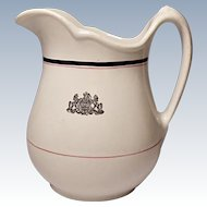 Restaurant Ware - Shenango China Ironstone Quart Milk Pitcher - Pennsylvania Coat of Arms - Crest