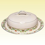 Vintage - John Maddock and Sons, Ltd. - Lucerne - Covered Butter - Cheese Keeper