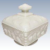 Vintage Westmoreland Glass Beaded Grape #BG-33 Honey Pot w/Cover