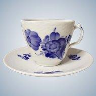 Vintage Royal Copenhagen Blue Flowers Porcelain Demitasse Set
