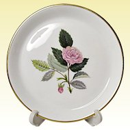 Vintage Wedgwood Bone China - Hathaway Rose - Round Tray - Coaster - c. 1959-1987