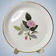 Vintage Wedgwood Bone China - Hathaway Rose - Round Tray - Coaster - c. 1959-1987
