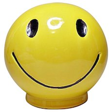 "McCoy Pottery - 6"" Happy Face Bank  - 1971"