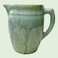 Vintage Illinois Monmouth - Western Stoneware Farm House Milk Pitcher - Jug - Early 1900's