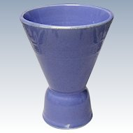 Vintage Homer Laughlin Harlequin Double Egg Cup - Mauve Blue
