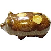 Very Vintage Brush Pottery Co. #080 Pig Coin Bank - 1930's