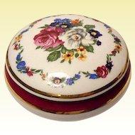 Limoges France Floral Swag Porcelain Trinket Box